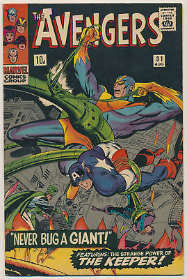 The Avengers (1963 Series) # 31 UK Price Variant - Aug 1966 | 6.5 FN+