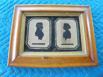 1820's Silhouette-picture-of-Lloyd N Rogers & Eleanor R Rogers