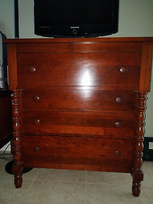 Wheeler Furniture: Antique mahogany chest of drawers and top.