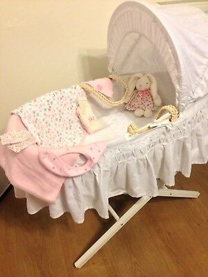 Wow Mothercare New Moses Basket/mattres/m&s Stand Etc Etc! £110 Total Cost 99P!!