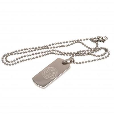 Leicester City FC Narrow Dog Tag & Chain Football Club Fan Player PRESENT GIFT