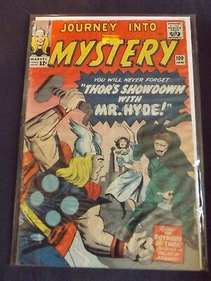 Marvel Comic Journey into Mystery THOR # 100  MR HYDE Kirby Heck MID GRADE