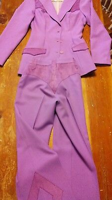 1960's H bar C 2pc Western Suit Woman Pants Jacket Rodeo Queen Rockabilly Size 8