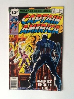 Marvel comic Captain America Vol 1 no 231 If America should die March 1978