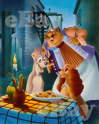 Rare! WALT DISNEY'S LADY AND THE TRAMP Cartoon Color 8 X 10 Photo #2 BELLA NOTE