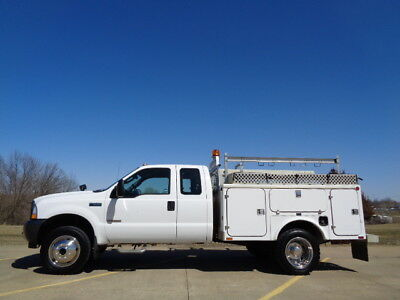 03 Ford F550 4X4 Extended Cab Utility Fiberglass Service Body Work Truck AC 4wd