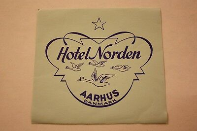 Vintage Hotel Norden Aarhus Denmark Water Decal Travel Vacation Luggage
