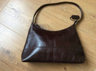 Vintage Brown Leather Hand Bag Buy It Now.