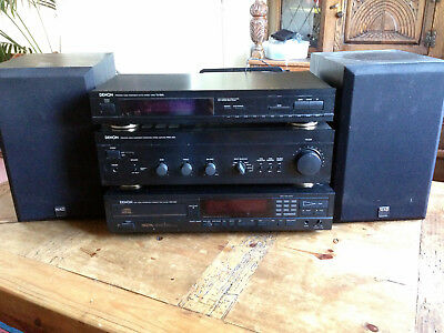 DENON HIFI SYSTEM - CD player, Amp, radio and NAD speakers