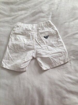 Boys Armani Short White Age 2