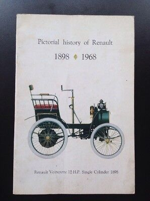 RENAULT Promotional Book - Pictorial History Of Renault Book 1898 -1968