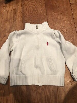 Girls Ralph Lauren Zipper Top 18-24 Months