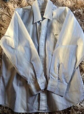 2 Lacoste Shirts Age 6 Yrs  Blue Long Sleeve & Green Short  Imaculate Condition