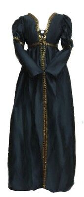 Reminisce Italian Renaissance Borgia Costume Over Dress L/XL Grey Silk Taffeta