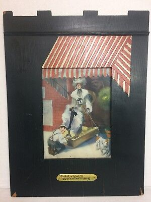 """VTG Barber Shop Wall Art """" Ain't It A Shame To Take The Money"""" Framed  Picture"""