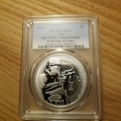 2018 Niue PCGS MS69 Star Wars Stormtrooper 1 oz Silver Coin FREE SHIPPING!!!