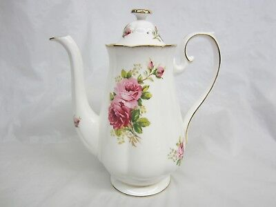 Large  Royal Albert American Beauty Coffee Pot Excellent