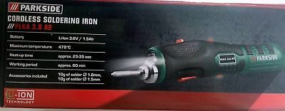 Cordless Soldering Iron Parkside 3.6V Li-Ion 1.5Ah PLKA 3.6 A2 New Germany 2018
