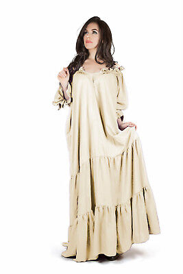 IDD Medieval Renaissance Costume Gown Under Dress THE CLASSIC CHEMISE Cream