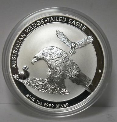 2018 Australian Wedge-Tailed Eagle .9999 Silver Coin 1 oz - Australia - JY245