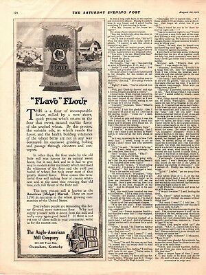 1919 OLD MAGAZINE PRINT AD FLAVO FLOUR The Anglo American Mill Company A108