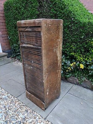 vintage roller shutter shelf unit - in need of total refurbishment (a project)