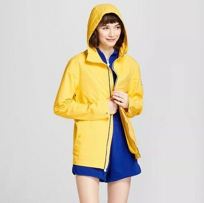 NWT Hunter For Target Yellow Packable Rain Coat Jacket Size Medium