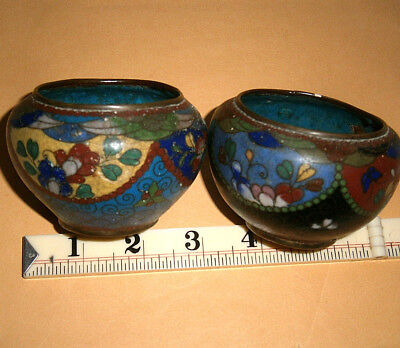 Two Cloissone Items Attractive Designs May Have Some Age There Is Some Damage