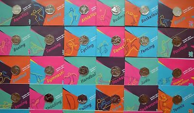 London 2012 Olympic Games 50p Sports Collection Uncirculated Football, Judo