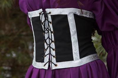 Renaissance-Faire-Medieval-Dress-Belt-Costume-Cincher  with Silver Trim 2XL/3XL