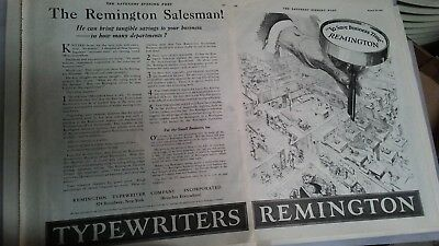 1919 OLD MAGAZINE PRINT REMINGTON TYPEWRITERS To Save Business Time A112
