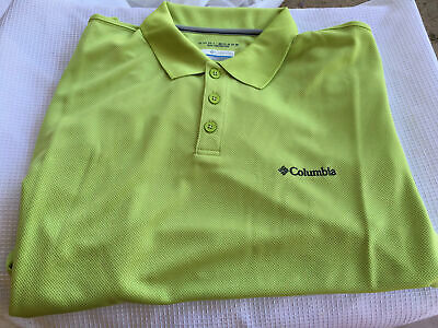 8b6b23366a9 NWT Columbia New Utilizer Polo Omni Shade Sportswear Sun Protection Shirt  Size L