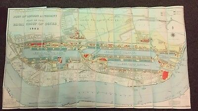 Port Of London Authority 1968 Plans Of The Royal Group Of Docks River Thames