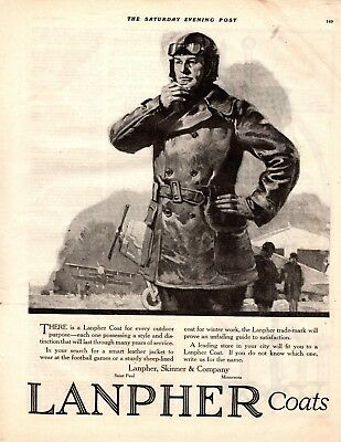 1919 Old Magazine Print Ad Lanpher Skinner  Coats Advertisment A113