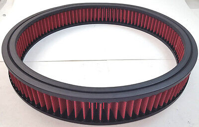 """14"""" x 2"""" 14x2 Washable Resuable High Flow Air Filter Element Chevy Ford Mopar V8"""