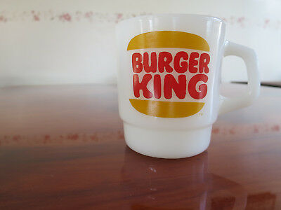 Rare Vintage Fire King Burger King Anchor Hocking Coffee Cup Mug Mint