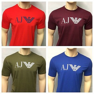 Armani Jeans Short Sleeve Crew Neck Chest Logo T-Shirt
