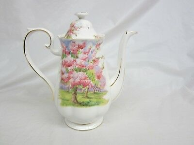 Large  Royal Albert Blossom Time Coffee Pot Excellent