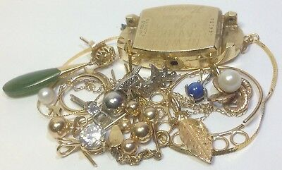 21 Gram Lot Of Vintage 14K Solid Gold Jewelry For Scrap, Parts, Repair...  (Sl1)