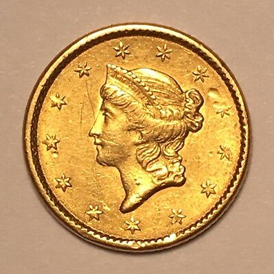 1851 $1 Gold Type 1 Lightly Circulated
