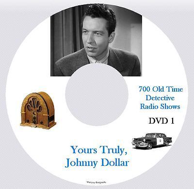 YOURS TRULY JOHNNY DOLLAR - 700+ OTR Detective Radio Shows - x2 DVD's