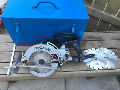 Skil saw model 5860 HD worm drive saw 8 1/4 60 pro bevel Professional w case