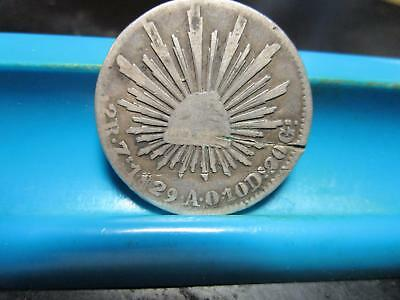 1829 - AO - Mexico - Two Reales - Silver             (B-36)
