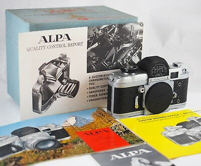 1977 ALPA REFLEX 6b + DISPLAY BOX + LITERATURE. VERY ORIGINAL. COMPLETE CLA. NR