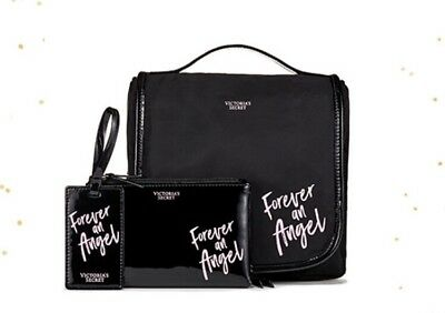 "NWT Victorias Secret ""Forever An Angel"" Three Piece Cosmetic Case, Tag And Pouch"