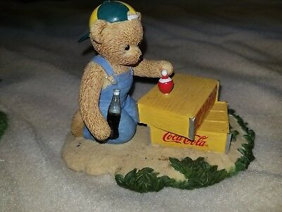 memories to cherish coca cola coke bear spinning top figurine Refeshes you Best