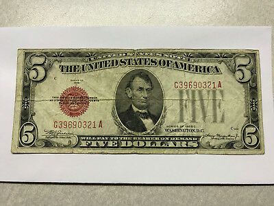 1928-C United States Note 5 Dollars Circ. #11361