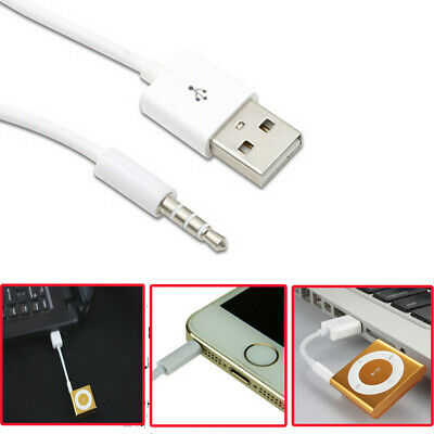 3.5mm AUX to USB 2.0 AUX Male Jack Audio Plug Charger Cable For iPod MP3 MP4