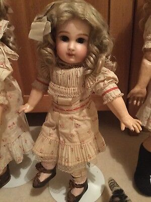 Antique French Incised  Depose Jumeau Size 7 with Antique Dress, shoes & socks