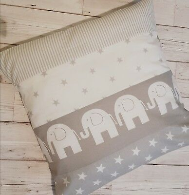 Grey elephant nursery bedding chevrons stars cot pillow chair cushion cover